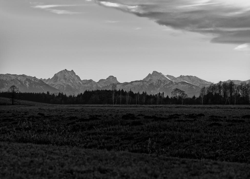 Landschaft Schwarz Weiss